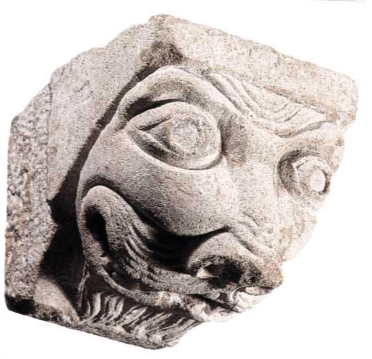 Mensola con testa di leone: Anonimo lapicida padano Seconda metà del XIII sec. (calcare bianco). Parma, Galleria Nazionale